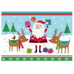 Calendario dell'Avvento - Babbo Natale e le renne