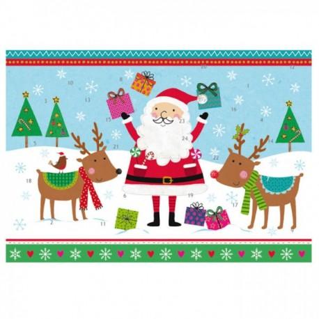 Immagini Calendario Dellavvento.Calendario Dell Avvento Babbo Natale E Le Renne